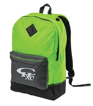 CHXC Copper Hills Grizzlies Cross Country - Reflective Logo -Neon Green Team  Backpack - Bag a94ea77b6bc49