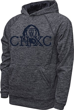 CHXC 2019 Copper Hills Grizzlies Cross Country Performance Space Dyed Navy - Hooded Sweatshirt (Hoodie Hoody)
