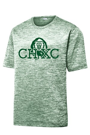CHXC - Adult 2019 - Copper Hills Grizzlies Cross Country - Cooling Performance Spaced-Dyed Green - Wicking T-Shirt