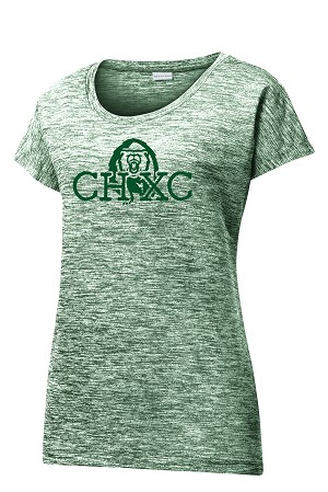 CHXC - Ladies 2019 - Copper Hills Grizzlies Cross Country - Cooling Performance Space Dyed Green - Wicking T-Shirt