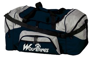 Wolverines Reflective Logo - Large Sport Duffel Bag