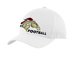 Herriman Mustangs Football – Sideline Cap - White Flex Fit (Hat)