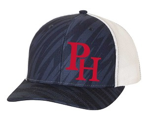 "Providence Hall Patriots -""Streak"" Trucker Hat with Embroidered PH Logo (Cap)"