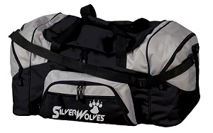 SilverWolves Reflective Logo - Large Sport Duffel Bag