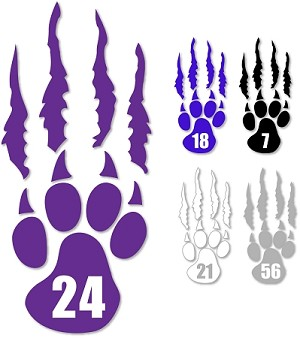 Silverwolves Paw and Tear - Personalized Window Decal