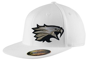 Skyline Eagles Football  – Flat Bill Game Day White Cap - Flex Fit (Hat)