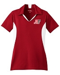 Cavemen V Neck Ladies Polo – Red/White