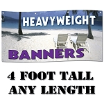 4' Standard Size - Heavy-Weight 13 oz. Digitally Printed Custom Vinyl Banners