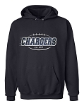 Corner Canyon Football Established Navy Hooded