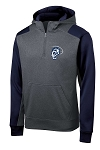 Corner Canyon Performance Navy/Gray 1/4 Zip Hooded