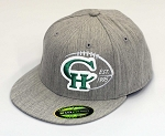 Copper Hills Grizzlies Football  – Flat Bill Est. Logo Heather Gray  Cap - Flex Fit (Hat)