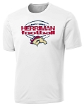 Herriman Mustangs Football - Laces Logo - White T-Shirt