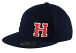 Herriman Mustangs Baseball  – Flat Bill Game Day Navy Cap - Flex Fit (Hat)