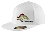 Herriman Mustangs Football  – Flat Bill Logo White Cap - Flex Fit (Hat)