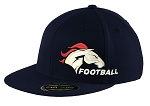 Herriman Mustangs Football  – Old School - Flat Bill Snap-Back Cap -  (Hat)