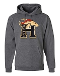 Herriman Mustangs Softball Heather Gray Hooded