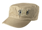 Herriman Mustangs Football Ladies Distressed Khaki Military Cap (Hat)