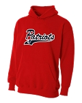 Providence Hall Patriots - Youth Red – Performance Hooded Sweatshirt (Hoodie Hoody)