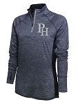 Providence Hall Patriots – Ladies 1/4 -Zip Running Jacket – PH Reflective Logo - Navy