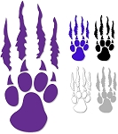 Silverwolves Paw and Tear - Window Decal