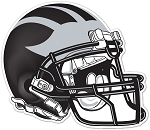 Silverwolves Football - Black Helmet – Window Decal