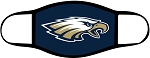 Eagles - Full Color Logo with Navy Background - Face Mask - Triple Layer Fabric - Skyline Eagles
