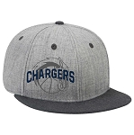 Corner Canyon Chargers Basketball - Gray Flat-Billed Snap-Back Cap with Embroidered Logo (Hat)