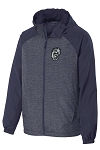 Corner Canyon Chargers Basketball - Heather Navy - Full-Zip - Hooded Wind Jacket