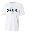 Corner Canyon Chargers Basketball - White - Cooling Performance  Wicking T-Shirt with Sublimated Logo
