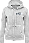 Corner Canyon Chargers Basketball - Ladies Burn-Out Full Zip Hoodie - Retro Print Logo