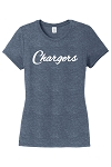 Corner Canyon Chargers Basketball  - Ladies Navy Ring-Spun Tee - Cursive Logo