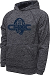 CHXC 2020 Copper Hills Grizzlies Cross Country Performance Space Dyed Navy - Hooded Sweatshirt (Hoodie Hoody)