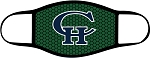 Copper Hills Grizzlies  - Face Mask - CH Logo over Green - Triple Layer Fabric -  High School - CHXC