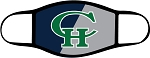 Copper Hills Grizzlies  - Face Mask - Two Tone CH Logo - Triple Layer Fabric -  High School - CHXC