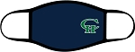 Copper Hills Grizzlies  - Face Mask - Casual Blue with Logo - Triple Layer Fabric -  High School - CHXC