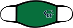 Copper Hills Grizzlies  - Face Mask - Casual Green with Logo - Triple Layer Fabric -  High School - CHXC