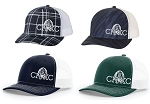 CHXC 2019 Copper Hills Grizzlies Cross Country - Reflective Logo - Old School Trucker Hat (Cap)