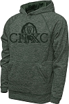 CHXC 2019 Copper Hills Grizzlies Cross Country Performance Space Dyed Green - Hooded Sweatshirt (Hoodie Hoody)