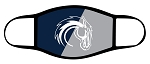 Chargers - Logo over 2 Toned - Triple Layer Fabric Facemask - Corner Canyon High School