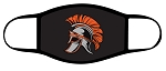 Spartans - Black - Full Color Spartan Logo - Triple Layer Fabric - Murray High School