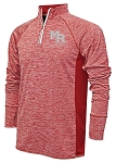 Mt Ridge Sentinels Baseball -  Red- Adult Warm-Up Top 1/4-Zip Running Jacket – Reflective Team logo