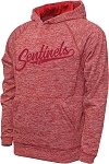 Mt Ridge Sentinels Baseball - Performance Space Dyed Red - Hooded Sweatshirt (Hoodie Hoody)