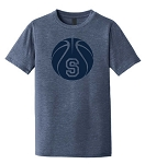 Skyline Eagles Basketball - Navy - Ring-Spun Adult T-Shirt with Spray-on-Ink Logo