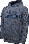 Skyline High School Basketball - Performance Space Dyed Navy - Hooded Sweatshirt (Hoodie Hoody)