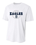 Skyline Eagles Basketball - Cooling Performance White - Wicking T-Shirt